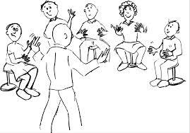 Imagem de professor e alunos falantes de libras